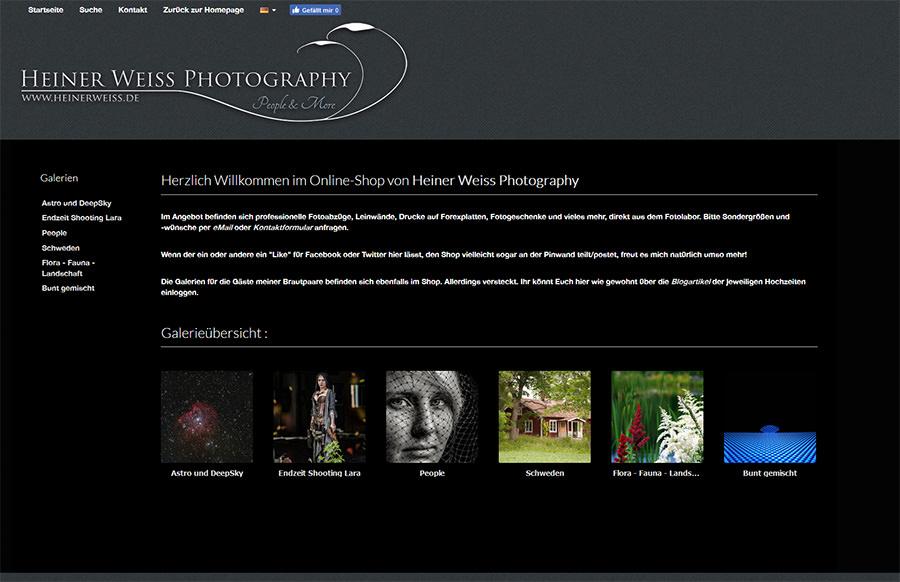 Heiner Weiss Online Shop